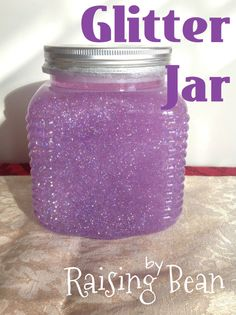 DIY Glitter Jar. To help your child calm down.