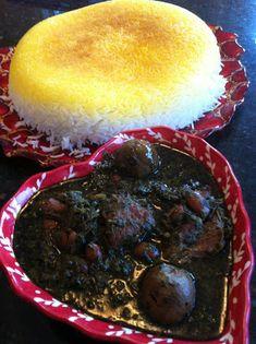 La mia cucina persiana: Ghormeh Sabzi - Stufato di Manzo alle Erbe Aromatiche, Fagioli Rossi e Lime