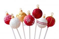 ideas for Christmas Cake Pops Decorations