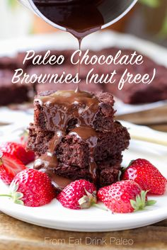 Nut free, paleo sweet potato chocolate brownies - super scrumptious! Check out the recipe here: http://eatdrinkpaleo.com.au/chocolate-brownies-that-blew-me-away/