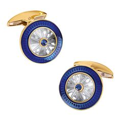Crystal Cufflinks and Studs with Burgundy Center