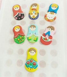 See what's on my #worktable today...tiny babushka's #matryoshka #babushka #russiandolls #fondanttoppers #fondant #fondantart #2dfondanttopper #cupcakes #cupcaketoppers #nixsweetart #sgcakes
