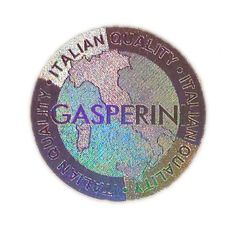 """Amazing """"Made in Italy"""" stamp, foiled with a special MicroSecurFoil / anti-counterfeiting holographic microtextured die - design and dies manufacturing by gasperini.it"""