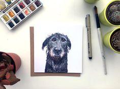 Wolfhound card Irish Wolfhound Wolfhound gift Wolfhound