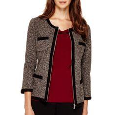Liz Claiborne® Zip-Front Jacket - Petite  found at @JCPenney