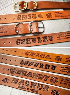 I'll take it! They come in more colors too!  Custom Leather Dog Collar