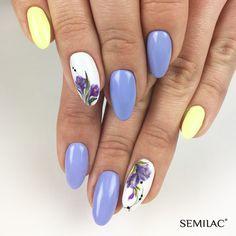 Violet Nails, Summer Nails, flower nails