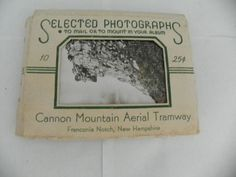 CANNON MOUNTAIN AERIAL TRAMWAY NEW HAMPSHIRE 10 B&W SOUVENIR PHOTOS PACKET 1940s