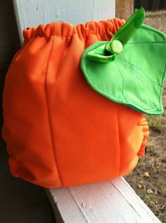 Pumpkin diaper!!