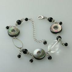 Abalone shell charm Bracelet handmade ani designs, $12.95