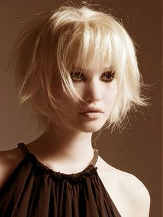 A medium blonde straight choppy coloured Layered hairstyle by Web Collections