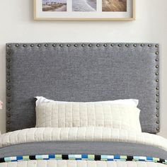 Stylist's Tip: Whether it's in a first apartment or updated guest suite, this chic headboard offers the perfect finishing touch for any space. Pair it with crisp sheets for a resort-worthy look, or add colorful pillows and a sheepskin throw to create a boho-chic retreat.