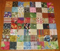 "Detailed tutorial for making a postage stamp quilt from 2"" squares"