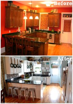 New Year New Look: Kitchen Style - see the entire transformation via blog.homes.com