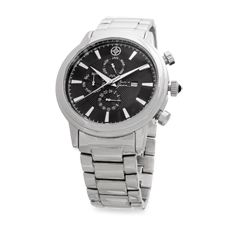 This stainless steel timepiece is a great gift for any man in your life.