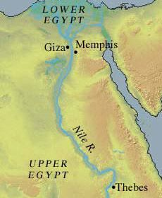 During the old kingdom Egypt, the pharaoh resided at White Wall. Lapter, this capital city was named Memphis.