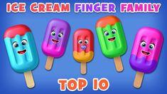 Ice Cream Finger Family Song   Top 10 Finger Family Songs