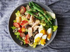 Eat like the French do with this simple recipe for a classic nicoise, made only better with a glass of #pinkwater. Get the Recipe: Niçoise-Style Chopped Salad