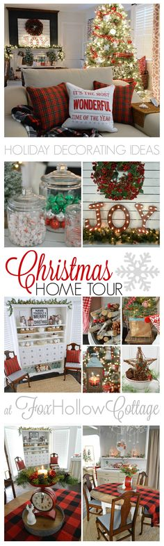 Holiday Decorating Ideas Country Living Christmas Home Tour foxhollowcottage.com