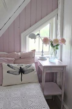 Pretty color for upstairs room.