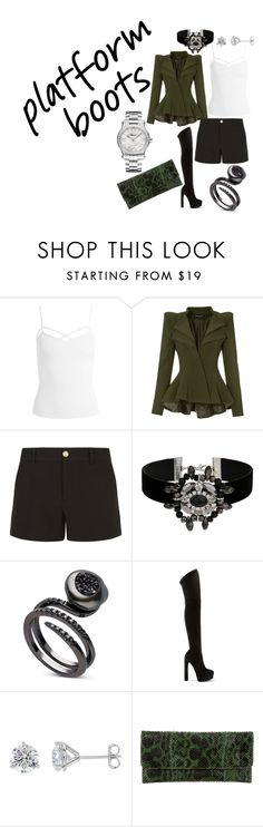 """""""Powerful green touch"""" by miamiiaaa on Polyvore featuring Sans Souci, Gucci, Miss Selfridge, Casadei, Carlos Falchi and Chopard"""