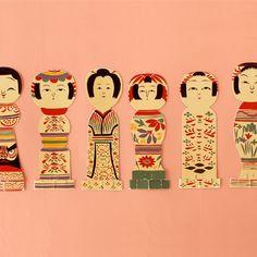 kokeshi letter / kokeshi is folk toy