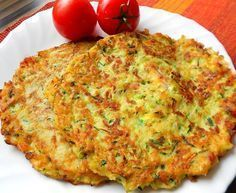Courgette and potato pancakes with bacon Top-Rezepte.de - The combination of potatoes and zucchini is a bite to eat. Delicious zucchini and potato pancakes w - Slovak Recipes, Czech Recipes, Hungarian Recipes, Ethnic Recipes, Fast Dinners, Easy Meals, Zucchini Corn Recipe, Slovakian Food, Healthy Meals For Kids