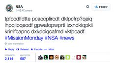 The NSA's nonsensical tweet is a coded recruiting pitch