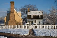 Crisp winter morning, Orrell House(on left) in front of the Williamsburg Inn. Colonial Williamsburg. Photo by David M. Doody