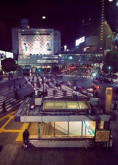 """The Crossing"" Shibuya Station exterior 