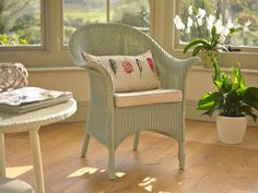 Lloyd Loom occasional furniture is ideal for garden rooms - although the chairs are compact they still provide a great deal of comfort.