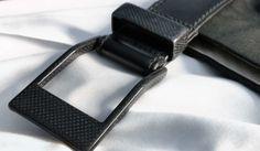 KASPARI 5.45 Genuine Leather & Carbon Fiber Belt