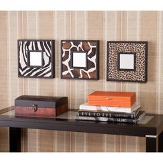 Upton Home Abana Animal Print Decorative Wall Mirror 3-Pc Set - Overstock Shopping - Great Deals on Upton Home Mirrors
