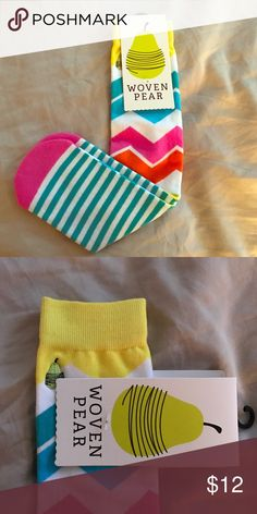 Cute socks! Cute Woven Pear socks! Multi colored and new with tags! Woven Pear Other