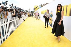 Universal Pictures and Illumination Entertainment hosted the Minions premiere at the Shrine Auditorium on June 27. Stars like Sandra Bullock, Jon Hamm, and Allison Janney walked the yellow carpet, where likenesses of the film's famous characters served as engaging photo backdrops. Photo: Alex J. Berliner/ABImagesn Shmikler/ABImages