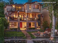 John Kritsonis and Karl Lindor's Listing on Lake Sammamish featured in Luxury Home Magazine.
