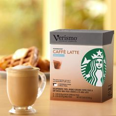 Verismo™ Decaf Caffè Latte Pods  A pack of 8 Verismo™ decaffeinated espresso pods and 8 milk pods to make caffè lattes. Used exclusively with the Verismo™ System. Tasting Notes  Bold & Creamy Enjoy this with:  Dark chocolate—enjoyed any time of day. Roast Dark    $12.95 8 servings  http://websites-buy.com/starbucks-coffee-store