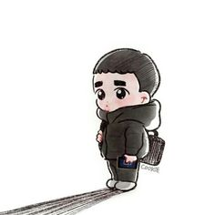 Kpop Exo, Exo Cartoon, Cute Cartoon, Chibi, Exo Stickers, Exo Anime, Exo Fan Art, Kyungsoo, Kaisoo