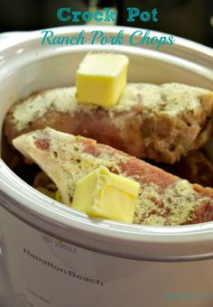 Crock Pot Ranch Pork Chops have just three ingredients but will leave you with flavorful juicy pork chops for dinner. Crock Pot Ranch Pork Chops have just three ingredients but will leave you with flavorful juicy pork chops for dinner. Crock Pot Recipes, Crock Pot Food, Crockpot Dishes, Crock Pot Slow Cooker, Pork Recipes, Slow Cooker Recipes, Cooking Recipes, Crockpot Meals, Easy Recipes
