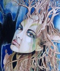 patrushka | Art Portfolio & News  dryad, tree goddess