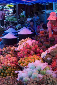 Luang Prabang fruit market