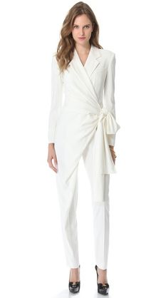 VIKTOR & ROLF Long Sleeve Bow Jumpsuit - Looks like your typical iconic pant suit!