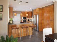 """Fossolized"" Natural Bamboo plywood cabinets via calibamboo."