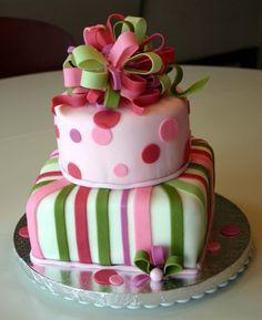Adorable Birthday Present Cake