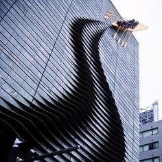 """Facade art ou """"arte de fachadas"""" que me encantam: nesta, o barco parece que foi…"""