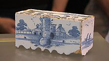 English Delftware flower bricks From BBC Antiques Roadshow