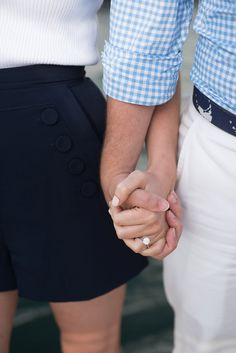 Navy and White Nantucket featuring solitary diamond engagement ring Engagement Pictures, Engagement Session, Engagement Ring, Engagement Ideas, Engagements, Nantucket Wedding, From Miss To Mrs, Love And Lust, Wedding Pinterest
