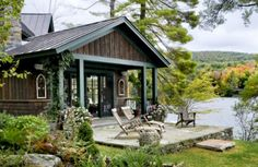 photo, small shake shingle lake homes | From Renee Rutledge on October 26, 2011 in Siding