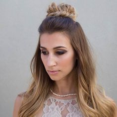 Fishtail Braided Top Knot Half Updo