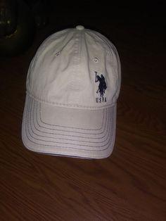 0acd6fe54ac U.S. Polo Assn. Cap Hat Beige. With Blue Logo Os Adjustable  fashion